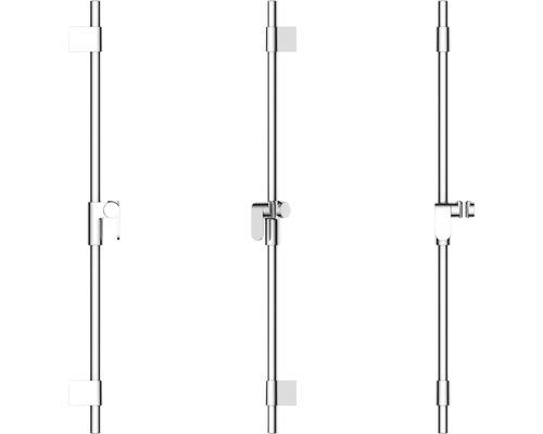 Barre de douche AVITAL Inam ronde longueur de la barre de douche 80 cm