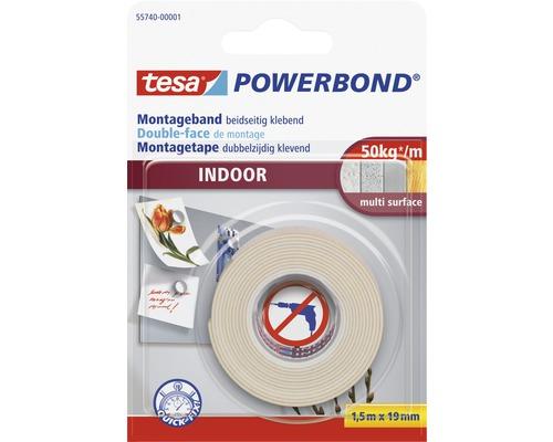 Ruban de montage tesa Powerbond Indoor 15m x 19mm