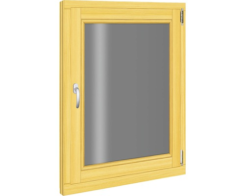 Fenêtre en bois d''épicéa 780x980 mm tirant droit