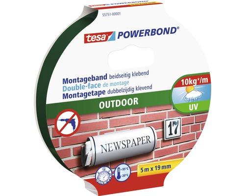 Ruban de montage tesa Powerbond Outdoor 5m x 19mm
