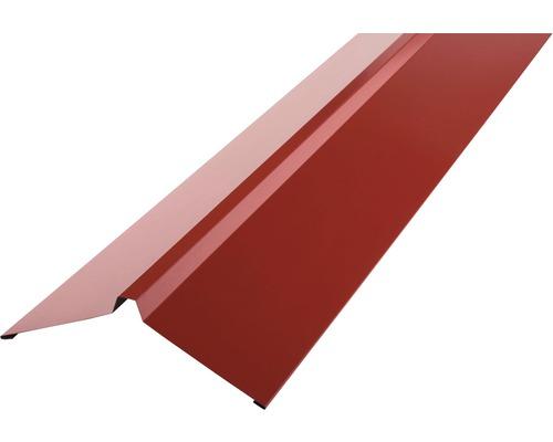 PRECIT Dachfirst gerade für Trapezblech brown red RAL 3011 1000 x 95 x 95 mm