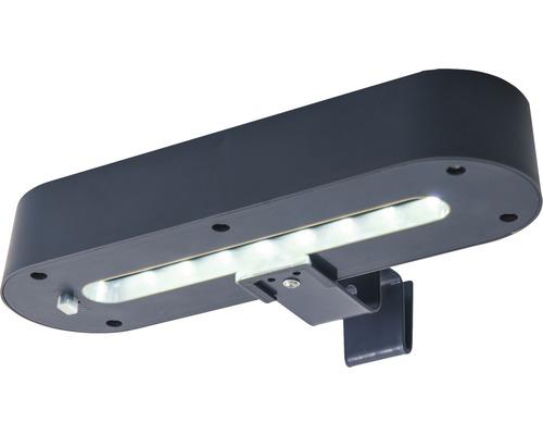 Jeu d''éclairage LED de gouttière Solar 35 lm 0,7W gris HxL 98x200 mm 2 pièces