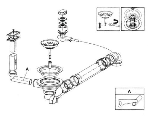 """Soupape excentrique à grille 3 1/2"""" pour Perla 45 F"""