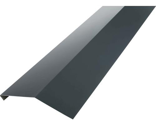 PRECIT Rinneneinhang ohne Wasserfalz anthracite grey RAL 7016 2 m