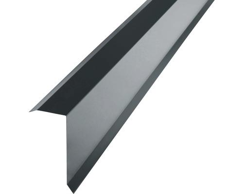 Angle d''arête PRECIT pour tôle trapézoïdale H12 anthracite grey RAL 7016 2 m