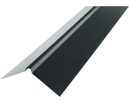 Faîtage droit PRECIT pour tôle trapézoïdale anthracite grey RAL 7016 1000 x 95 x 95 mm