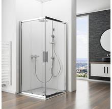Colonne de douche avec inverseur Schulte Modern plus pomme haute extra plate carré chrome D969272 02-thumb-5