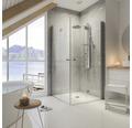 Panneau de douche Schulte avec thermostat et pommeau au style alu-chromé (D9675 41)
