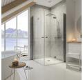 Duschsystem Schulte Square DuschMaster Rain II D963510 02 chrom mit Ablage und Thermostat