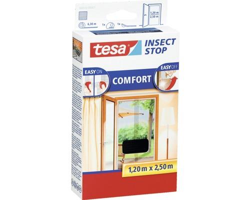Moustiquaire porte persienne tesa Insect Stop Comfort sans perçage anthracite 2x 65x250 cm