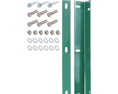Kit de barre de fixation pour panneau rigide double fil vert, avec 80 vis