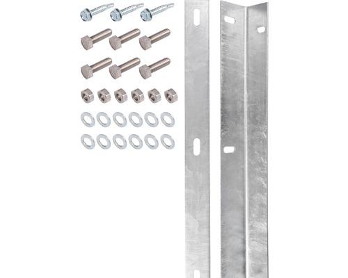 Kit de barre de fixation pour panneau rigide double fil galvanisé à chaud, avec 80 vis