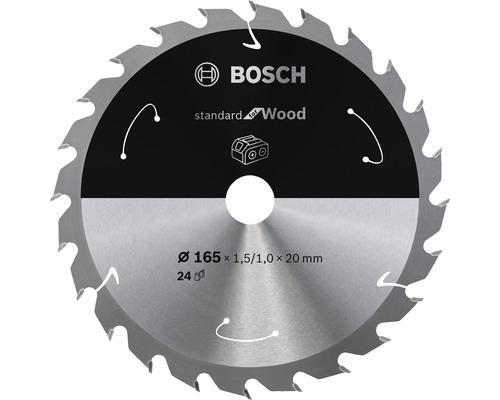 Lame de scie circulaire pour scie sans fil Standard for Wood, 165x1,5-1x20, 24 dents