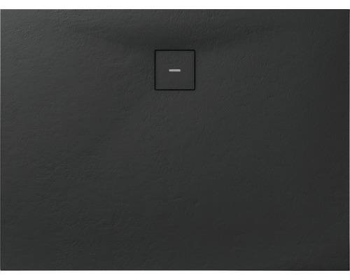 Duschwanne Mineralguss BREUER Modern Line Q72 Steinoptik anthrazit 80 x 120 cm