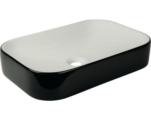 Vasque à poser cuandO 60 x 40 cm blanc/noir
