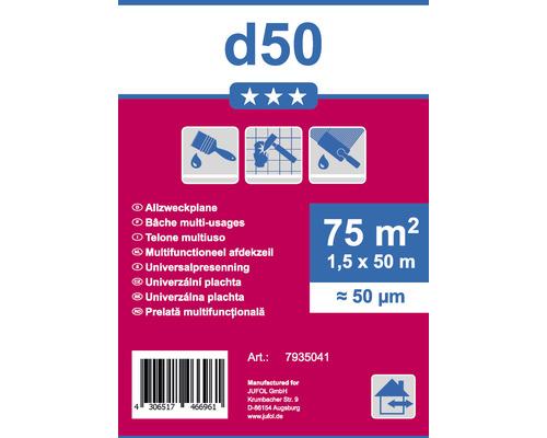 Bâche multi-usages D50 transparent 1,5 x 50 m
