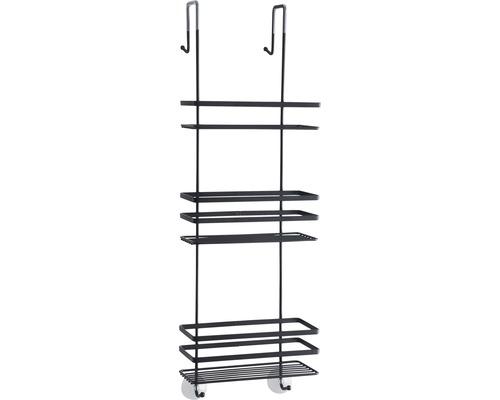 Étagère de douche form & style à accrocher à une porte ou à une séparation de douche noir mat