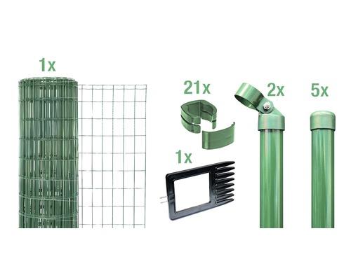Kit complet Fix-Clip Pro à sceller dans le béton 81cm 10m vert