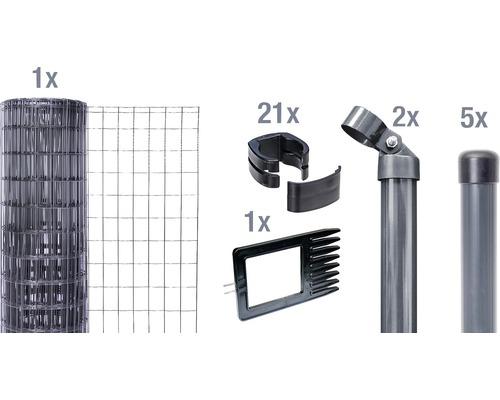 Panneau à composer dans le béton Fix-Clip Pro 150 cm 10m anthracite