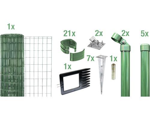 Kit complet Fix-Clip Pro avec douilles de sol 81 cm 10m vert