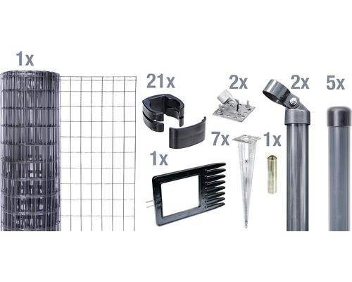 Kit complet Fix-Clip Pro avec douilles de sol 81 cm 10m anthracite
