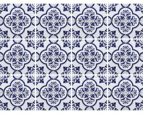 Autocollants pour carrelage bleu 15x15 cm 12 pces