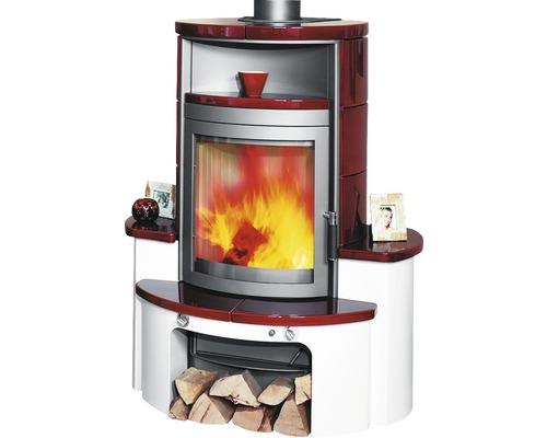 Poêle Hark Avenso en céramique bordeaux-rouge 7 kW