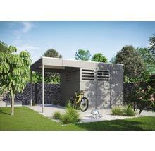 Abri de jardin Skanholz CrossCube Haus Brisbane 3 253 x 253 cm, gris ardoise-thumb-1