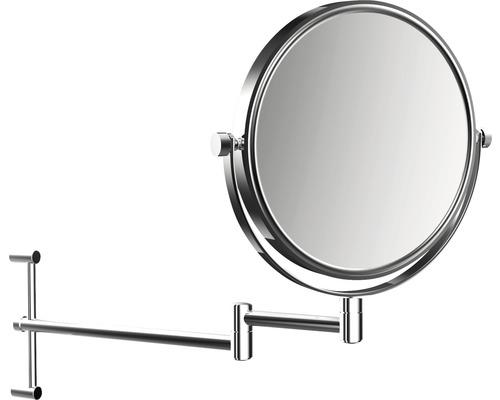 Miroir de maquillage Emco chrome 2 bras grossissant fois 3/1 rond