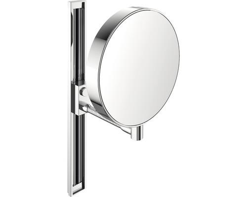 Miroir de maquillage Emco 3 et 7 fois chrome réglable