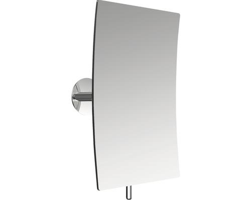 Miroir adhésif Emco chrome grossissant fois 3 carré