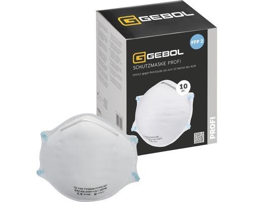 Masque anti-poussière Profi GEBOL FFP2, lot de 10