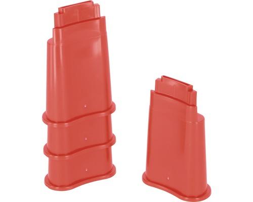 Pieds de support pour abreuvoir en plastique 4 pièces rouge