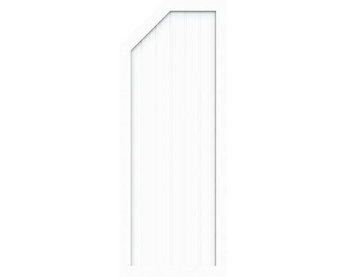 Élément d''extrémité BasicLine type E à gauche 70x180/150 cm, blanc