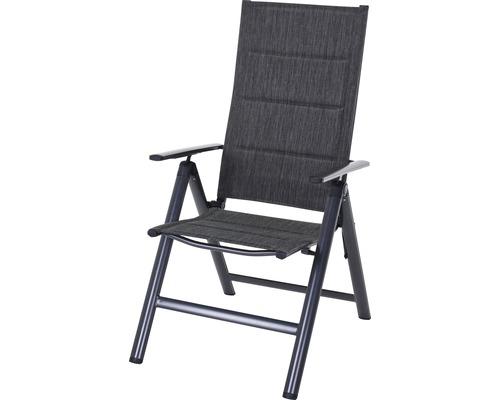 Chaise pliante Garden Place fauteuil pliant avec coussin séchage rapide intégré anthracite