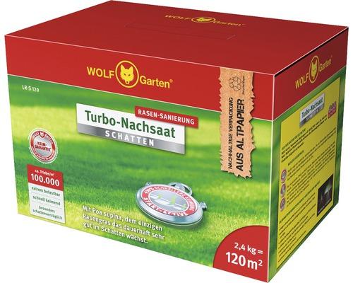 Engrais repousse rapide pour gazon ombragé WOLF-Garten 2,4 kg 120 m²
