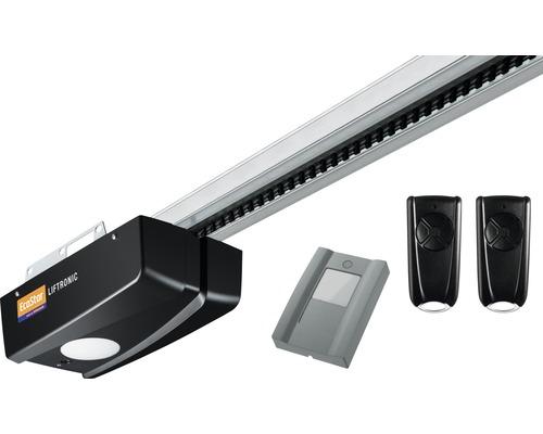 Motorisation de porte de garage EcoStar Liftronic700 série 2 pour portail de 11,25 m² avec 2 x émetteurs portatifs 4 canaux, poussoir intérieur PB1
