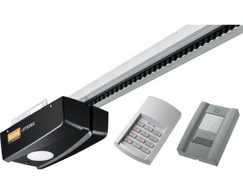 Motorisation de porte de garage EcoStar Liftronic 800 série 2 pour portail de 13,75 m² avec 2 x émetteurs portatifs 4 canaux RSC4, digicode sans fil RCT3, poussoir intérieur PB3