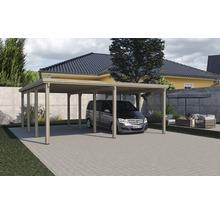 Carport double weka Optima 603x612cm, traité en autoclave par imprégnation-thumb-1
