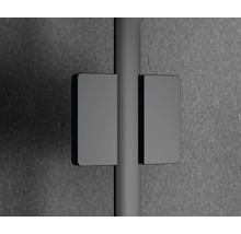 Douche accès d''angle basano Ballino 90 cm verre véritable transparent clair profil noir-thumb-7