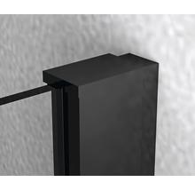 Douche accès d''angle basano Ballino 90 cm verre véritable transparent clair profil noir-thumb-8