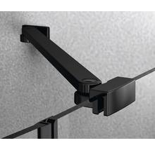 Douche accès d''angle basano Ballino 90 cm verre véritable transparent clair profil noir-thumb-9