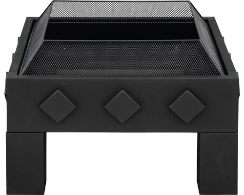 Brasero Buschbeck cube acier noir