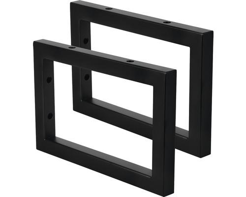 Waschtischhalterung 23 x 15 cm schwarz matt 2 Stück 38.215.19