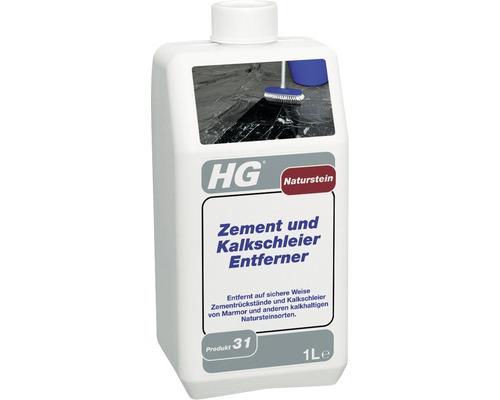 Produit nettoyant contre voiles de ciment et de calcaire pour pierre naturelle HG 1 l