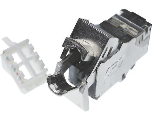 Module Keystone Rutenbeck Cat.6A RJ45 (8p8c) -douille blindée pour câble réseau