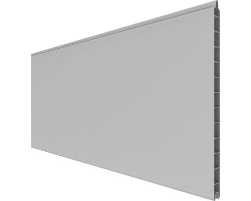 Profilé simple PVC BasicLine 180x30x1,9 cm, gris argent