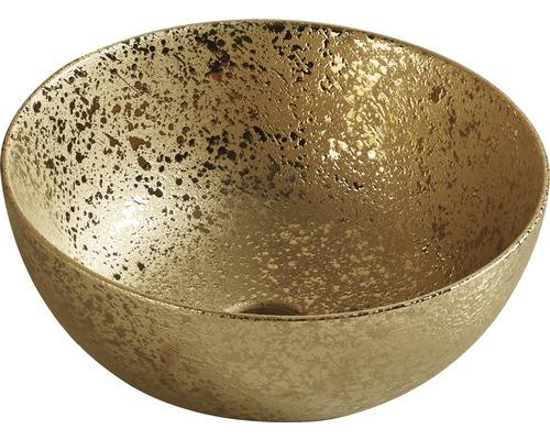 Vasque à poser OSIRIS ronde 35,8 x 35,8 cm or mat