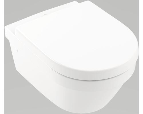 Kit WC Villeroy & Boch Architectura DirectFlush, bride de rinçage ouverte, blanc, fixation masquée