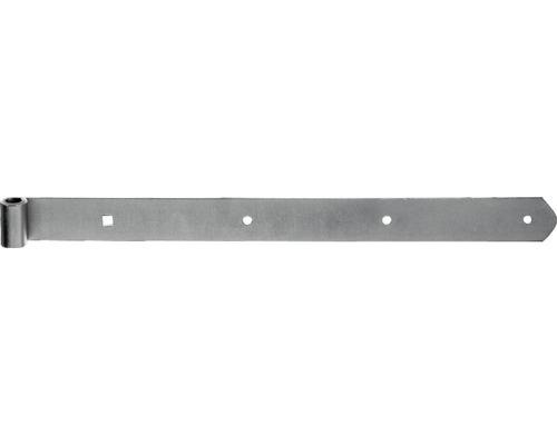 Paumelle de volet Type 6 forme droite, semi-lourde, 500x13x40mm, jaune galvanisée